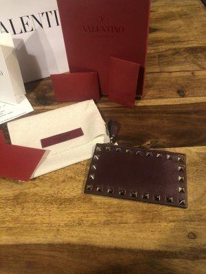 Valentino Garavani Porte-cartes brun rouge