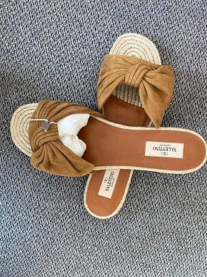 Valentino Garavani Espadrille sandalen lichtbruin