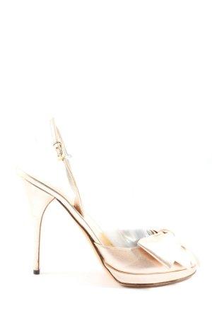 Valentino Garavani High Heels goldfarben Elegant