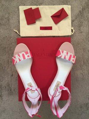Valentino Garavani Sandały z rzemykami różowy-różowy Skóra