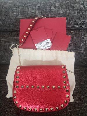 Valentino Crossbody bag brick red leather