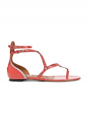 Valentino Garavani Dianette Sandals bright red leather