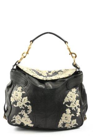 Valentino Garavani Carry Bag black-cream flower pattern casual look