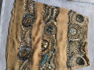 Valentino Jupe en soie brun sable soie