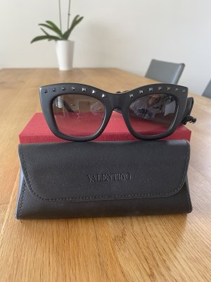 Valentino Garavani Kwadratowe okulary przeciwsłoneczne czarny