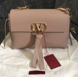 Valentino Bolsa de hombro beige-color rosa dorado