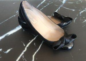 Valentino Garavani Ballerines en cuir verni noir