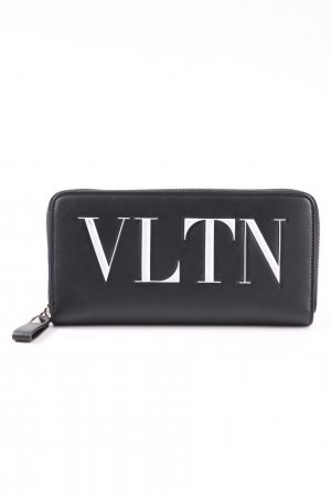 Valentino Geldbörse schwarz-weiß Schriftzug gedruckt Casual-Look
