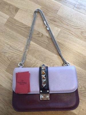Valentino Glam Lock Lederhandtasche