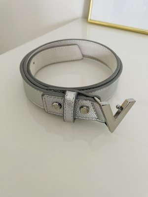 Valentino Leather Belt silver-colored