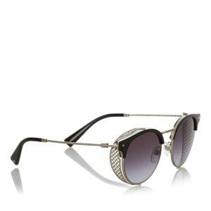 Valentino Half-Rim Cate Eye Sunglasses