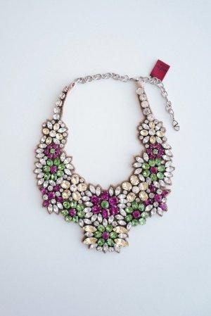 Valentino Halskette mit Strasssteinen als Blumenmotiv