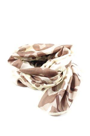 Valentino Apaszka kremowy-brązowy Na całej powierzchni W stylu casual