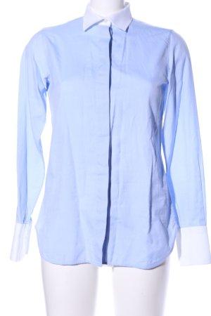 Valentino Hemd-Bluse blau-weiß Business-Look