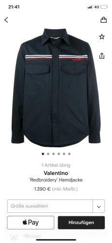 Valentino Giacca denim blu scuro
