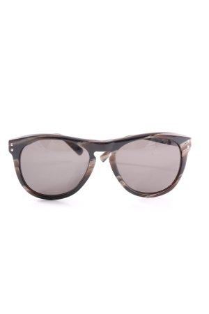 Valentino Occhiale squadrato marrone-crema stile casual