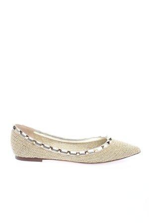 "Valentino Classic Ballet Flats ""Rockstud Ballerina"" cream"