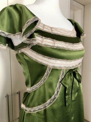 Valentino Kleid smaragdgrün mit Spitze