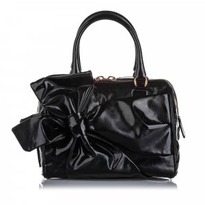 Valentino Lacca Bow Patent Leather Handbag