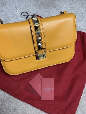 Valentino Lock aus Leder Original Tasche Ledertasche Handtasche