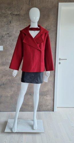Valentino Garavani Krótki płaszcz czerwony Wełna