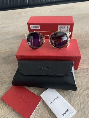 Valentino Aviator Glasses black-gold-colored