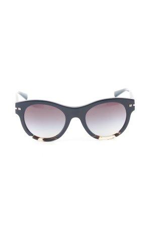 Valentino ovale Sonnenbrille schwarz Business-Look