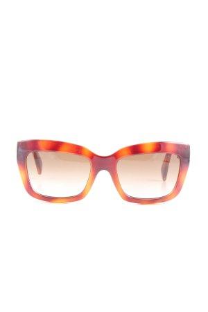 Valentino Oval Sunglasses red-light orange casual look