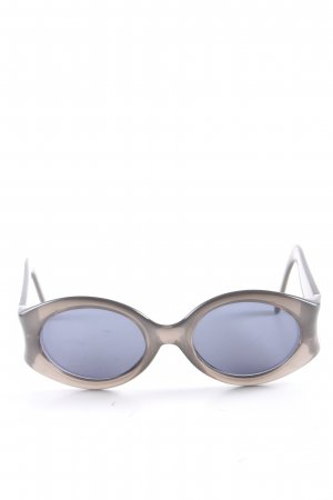 Valentino ovale Sonnenbrille hellgrau Casual-Look