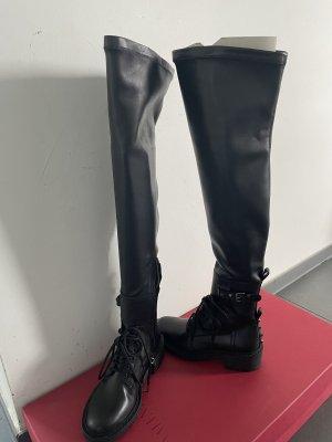 Valentino Kniehoge laarzen zwart