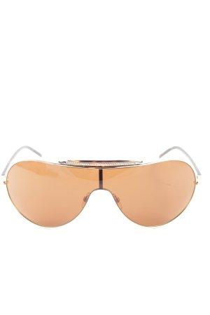 Valentino Gafas de piloto marrón-naranja claro look casual