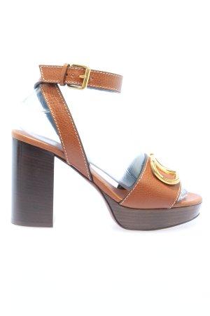 """Valentino Riemchen-Sandaletten """"Plateau Sandals"""" braun"""