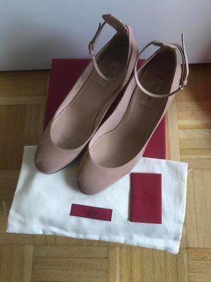 Valentino Garavani Strapped pumps pink-natural white leather