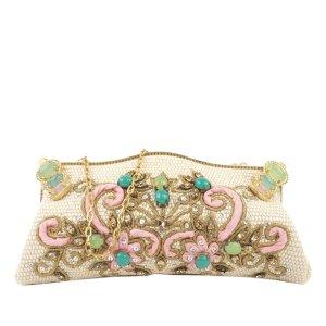 Valentino Raffia Clutch Bag