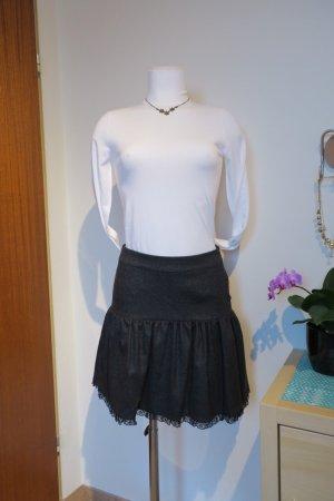 RED Valentino Miniskirt dark grey-anthracite wool