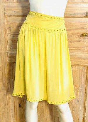 Valentino Spódnica z wysokim stanem żółty Jedwab