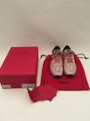 Valentino rockrunner sneaker rosa Spitze rockstud