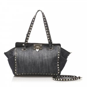 Valentino Rockstud Denim Shoulder Bag