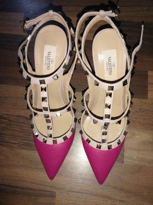 Mario Valentino Slingback pumps roze Leer