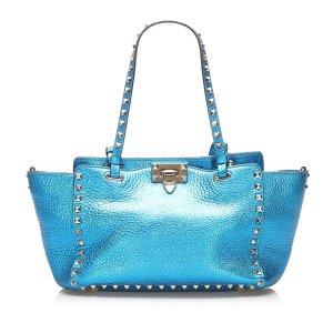 Valentino Satchel turquoise leather