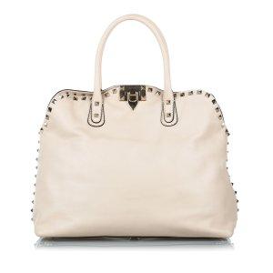 Valentino Satchel white leather