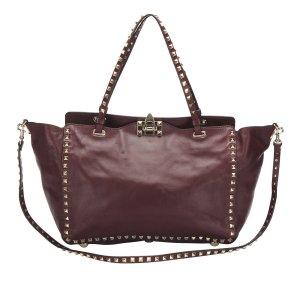 Valentino Satchel bordeaux leather