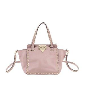 Valentino Mochila de colegio rosa claro Cuero