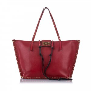 Valentino Sacoche rouge cuir