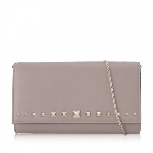 Valentino Rockstud Leather Wallet on Chain