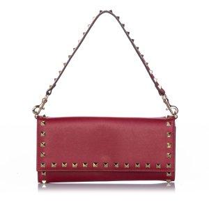 Valentino Rockstud Leather Wallet on Strap