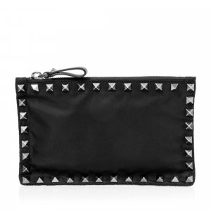 Valentino Rockstud Nylon Clutch Bag