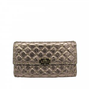 Valentino Wallet gold-colored leather