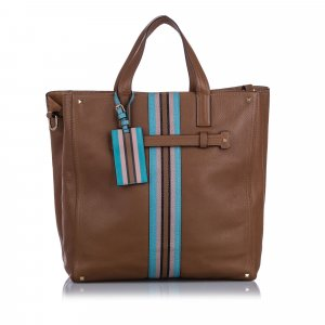 Valentino Rockstud Stripe Leather Satchel