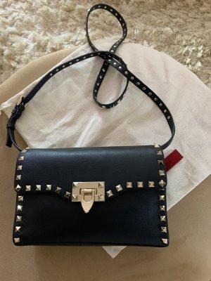 Valentino Rockstud Tasche schwarz Gold